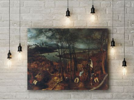 Pieter Bruegel: The Gloomy Day. Fine Art Canvas.